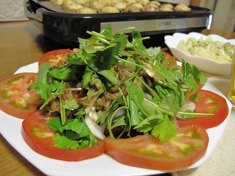 葱だれ三つ葉サラダ