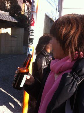鎌倉ビールを片手に