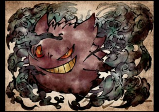 ゴーストタイプのポケモンを妖怪風に描いてみた