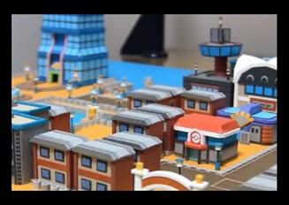 ポケモンHGSSにでてくるコガネシティを紙で建設してみた。