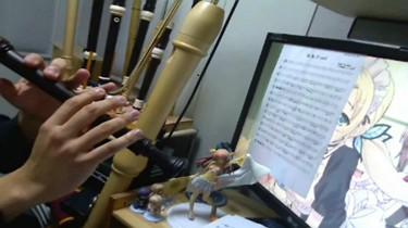 ささみさん@がんばらないOP【Alteration】をリコーダーで吹いてみた