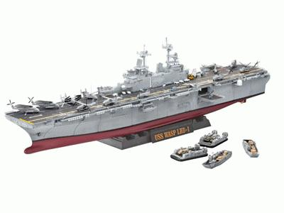 REVELL OF GERMANY 5104 ASSAULT AHIP USS WASP(LHD-1) 1:350