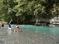 川遊び開始