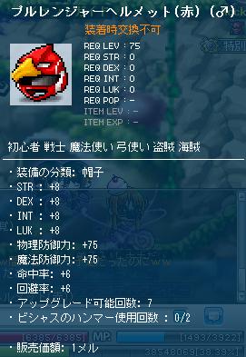 プルレンジャーヘルメット(赤)