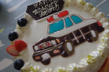3歳のバースデイケーキ