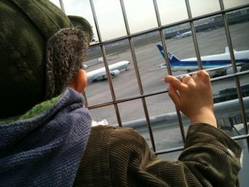 新しい羽田で飛行機