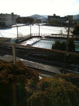 うわ、雪in徳山