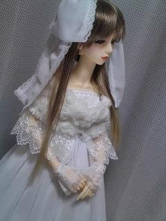 16少女用ドレスSet(白)