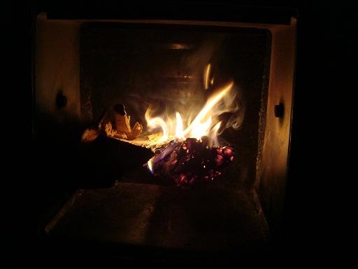 薪ボイラーの灯 (1)