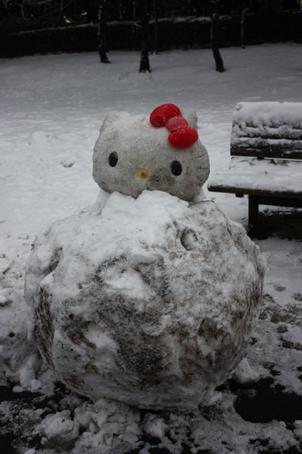 雪だるまキティ