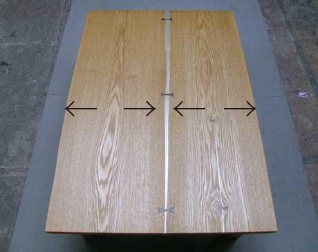 タモのテーブル 再生できる部分
