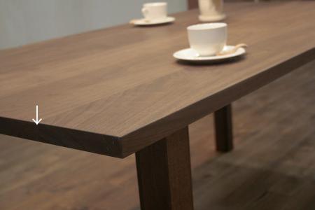 テーブルの巾の狭い方をチェック