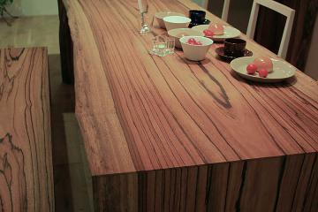 ゼブラのテーブル:木裏