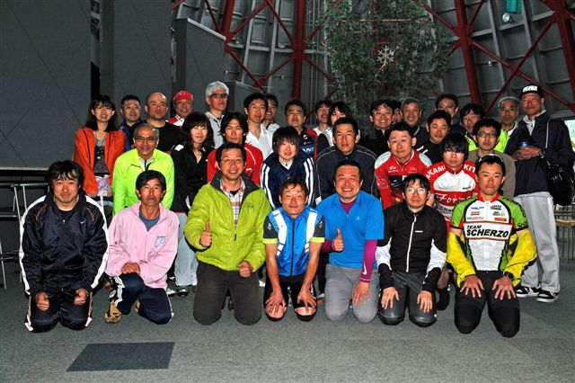 2012 春 ゆっくりサイクリング参加者およびスタッフたち