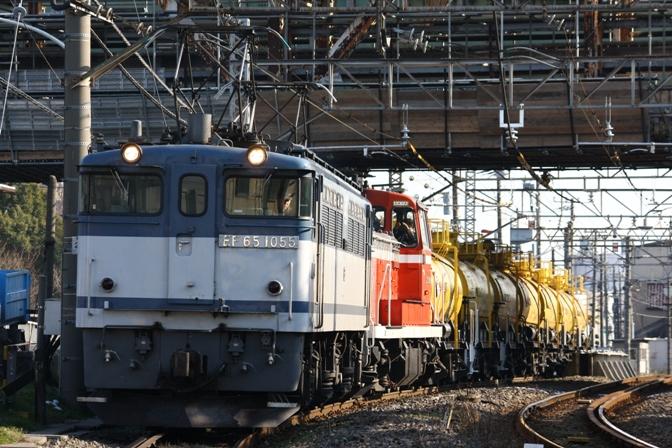 EF65 1055 DE10 黄タキ