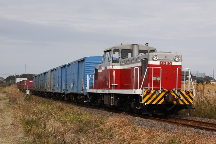 鹿島臨海鉄道KRD5+ワム