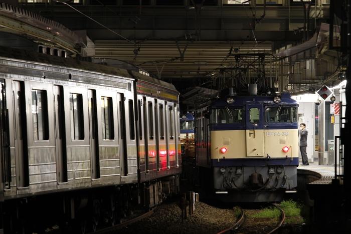 EF64 38+チキ4車+EF64 39 南武工臨
