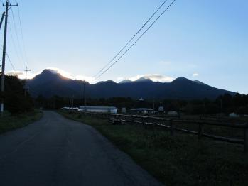 八ヶ岳の朝焼け