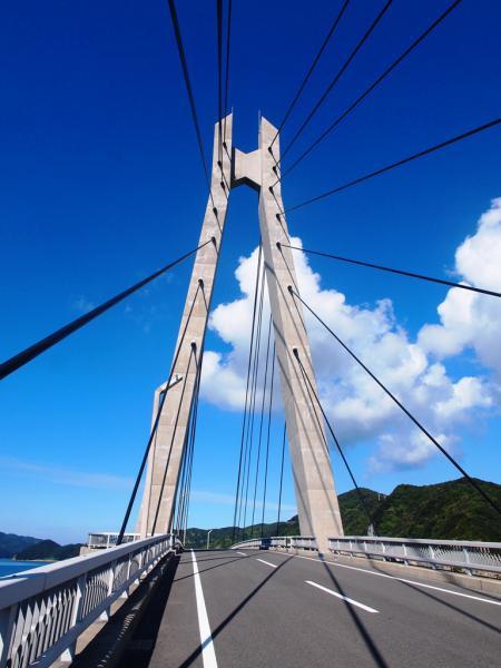 大明神橋 夏雲です