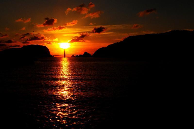 23日の夕陽 2