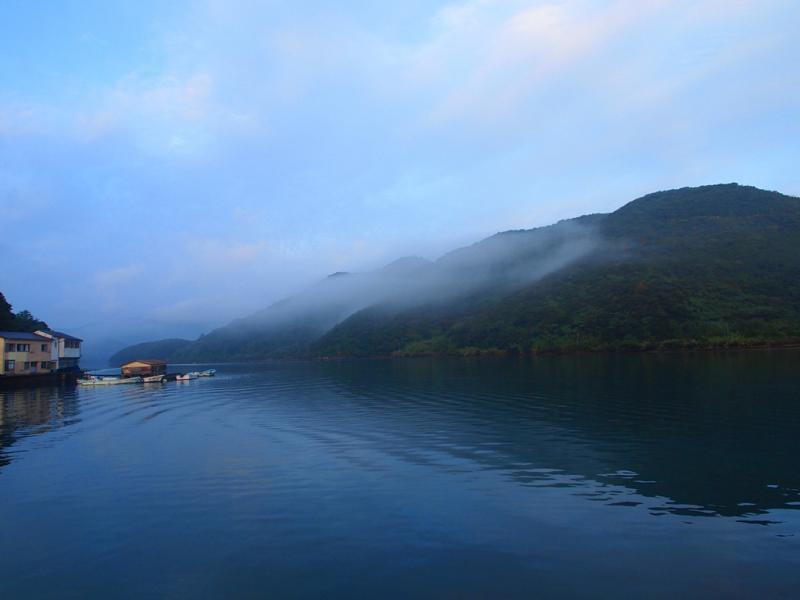 雨上がり 霧の浦内湾11.6の朝