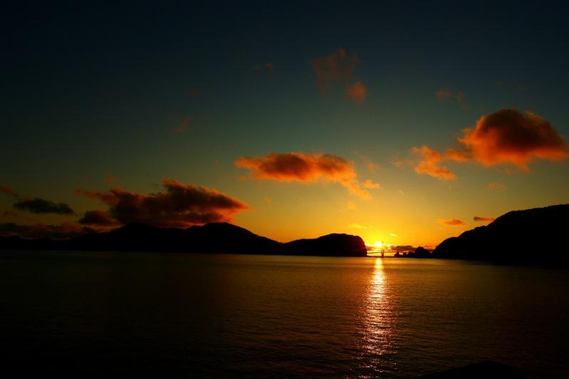 大明神橋の夕陽