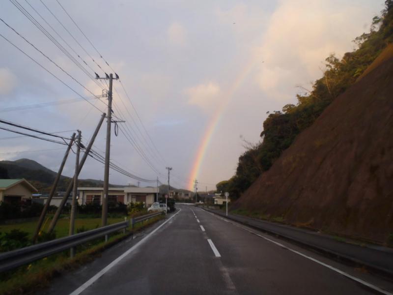 運転中に虹が 12.10