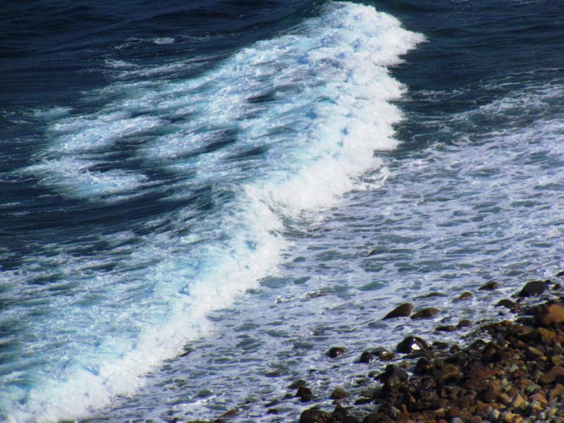 長目の浜 の波