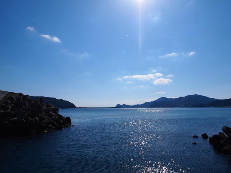 キラキラと 今日の海