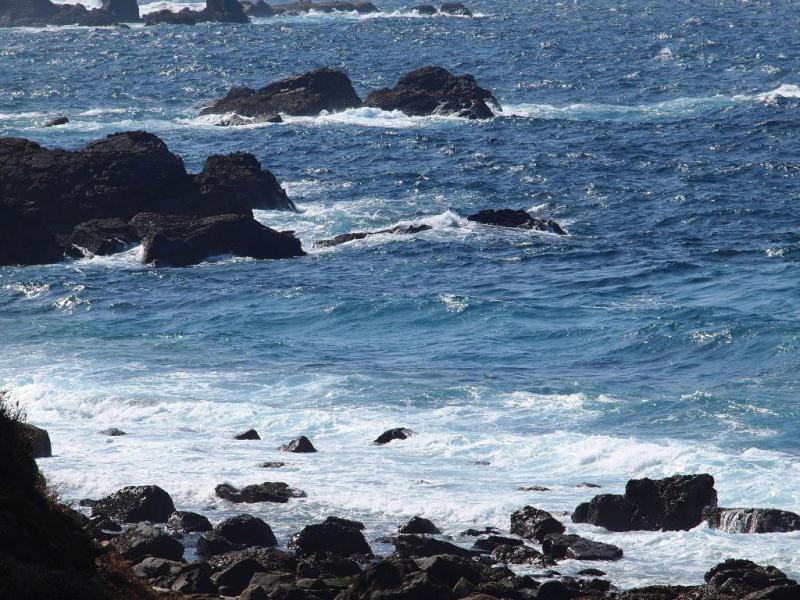 西の海の波
