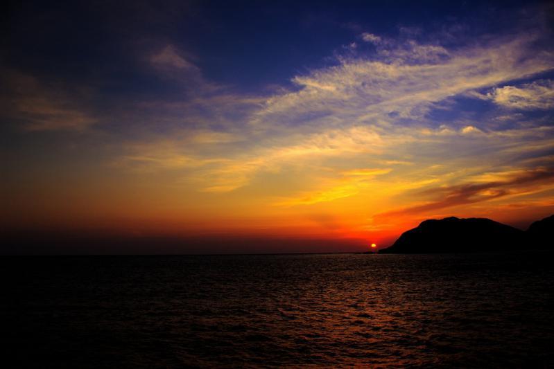 甑島の夕陽 1