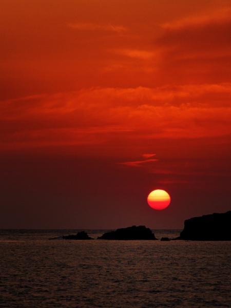 甑島の 夕陽 3