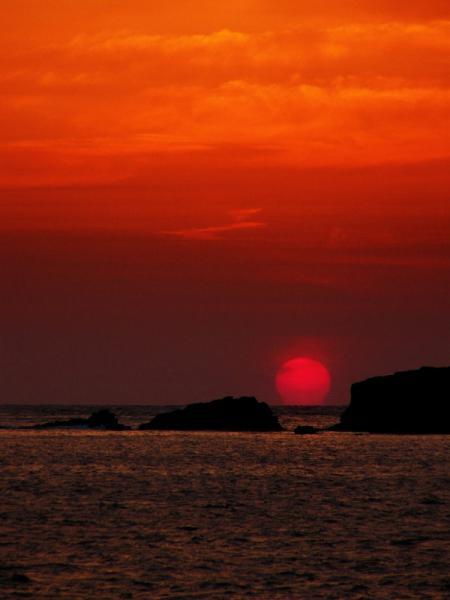 甑島の夕陽 4