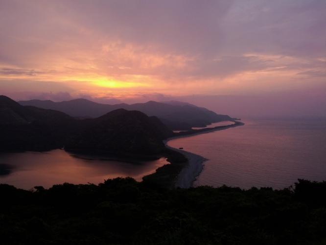 I長目の浜の夕景