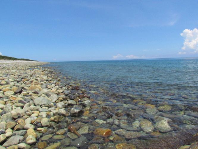 玉石の海岸