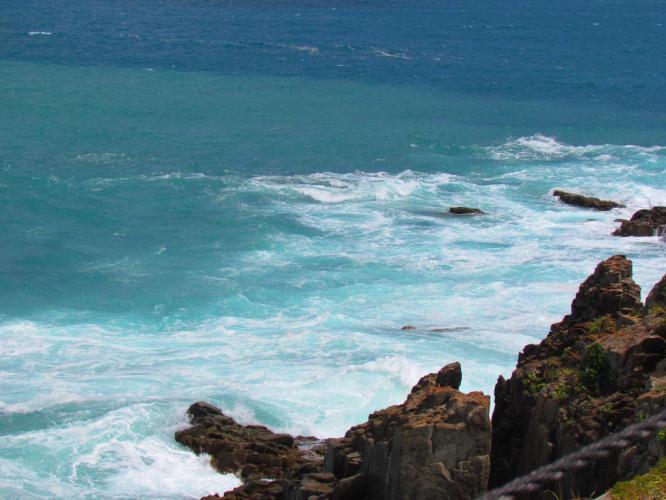 変わる海の色