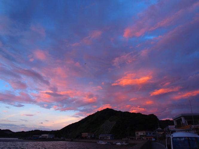 台風前の夕景 2