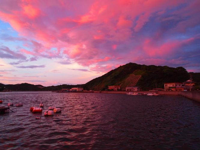 浦内湾の夕焼け 1
