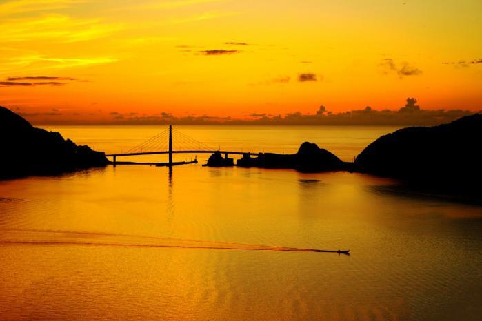 大明神橋の夕景