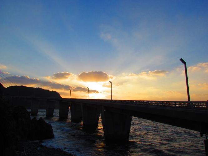 大明神橋の夕焼け 2