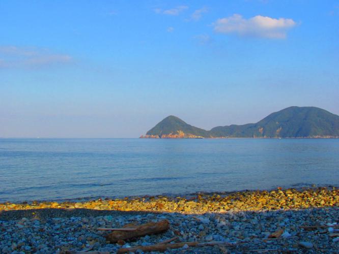 長目の浜 夕方