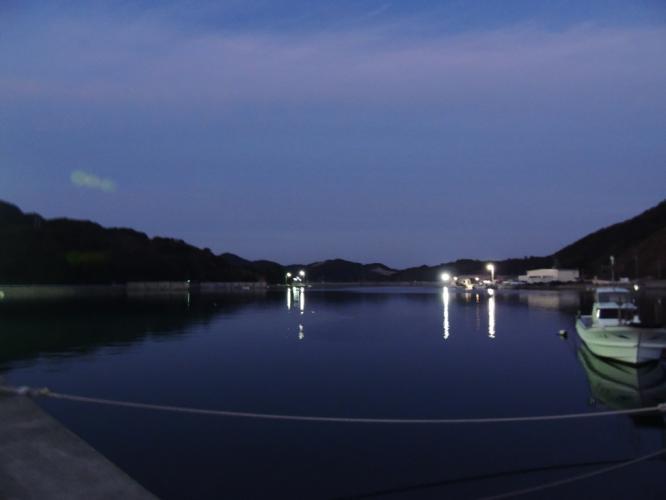 浦内湾の夕暮れ