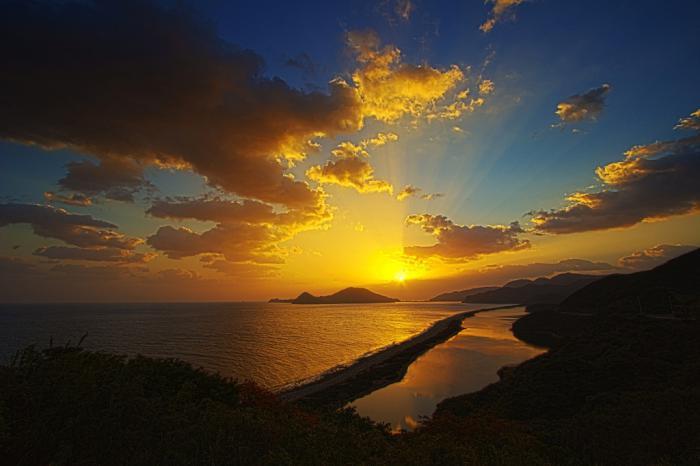 長目の浜の陽の出 2