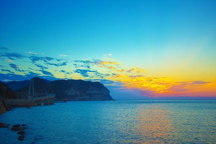 大明神橋からの夕焼け
