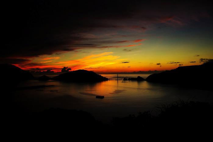 中甑の夕景