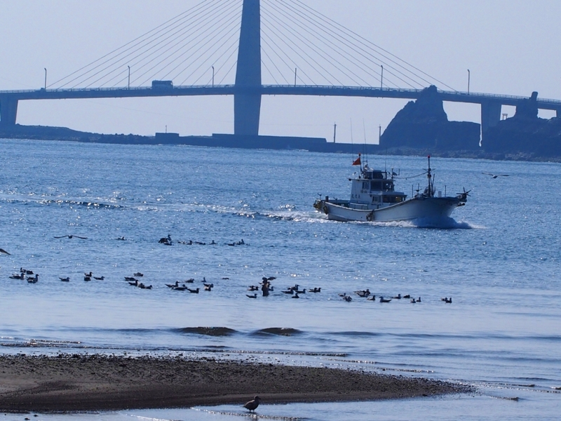 中甑 大明神橋の風景