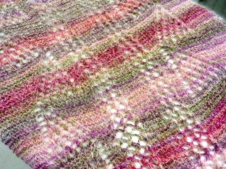ダイヤ毛糸の編地