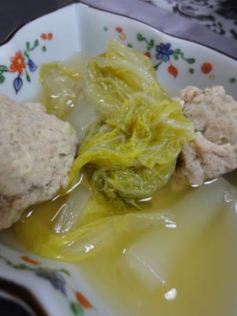白菜と肉団子!
