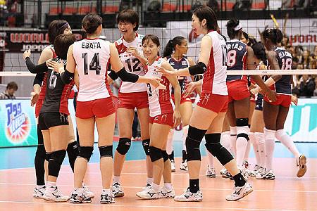 バレーボール:女子W杯・ドミニカ共和国vs.日本