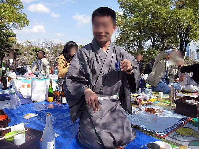 大倉山でお花見、大宴会(^o^)丿
